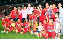 Andre Fagan scores in Vietnam to help his team win National Cup