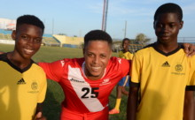Scotiabank Business House football team shares expertise with U-13 ballers