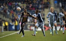 Brian Brown opens the scoring for Philadelphia Union against Sporting Kansas City